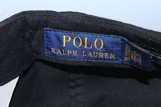 画像4: Polo Ralph Lauren(ラルフ ローレン) Script Logo Black Cap スクリプトロゴ ブラック キャップ (4)