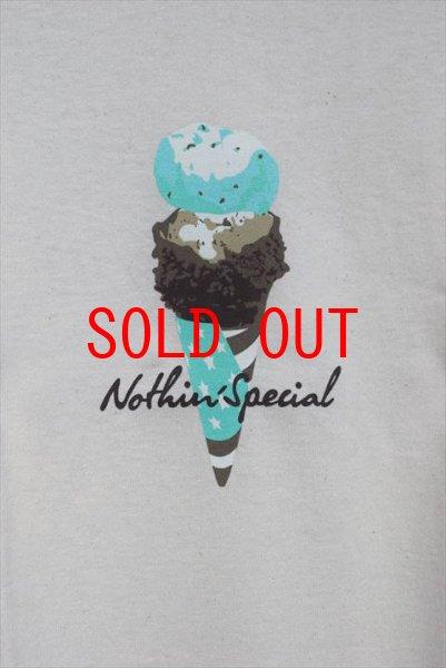 画像1: Nothin' Special(ナッシン スペシャル) Ice Cream S/S Tee Cream white アイスクリーム ロゴ 半袖 Tシャツ クリーム  (1)