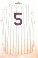 画像2: Ebbets Field (エベッツ フィールド) NewYork Black Yankees 1942 Home Baseball Shirts ニューヨーク ブラック ヤンキース ベースボール シャツ Stripe ヴィンテージ  (2)