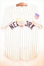 画像1: Ebbets Field (エベッツ フィールド) NewYork Black Yankees 1942 Home Baseball Shirts ニューヨーク ブラック ヤンキース ベースボール シャツ Stripe ヴィンテージ  (1)