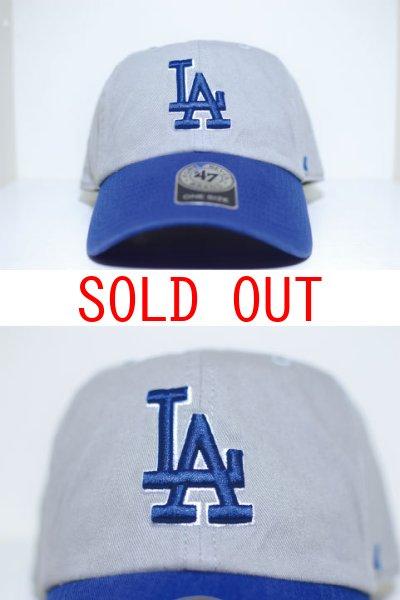 画像1: 47 Brand(フォーティーセブンブランド)Los Angeles Dodgers 2Tone Ball Cap Grey Blue ツートーン グレー ブルー ロサンゼルス ドジャース Round 6 Panel (1)