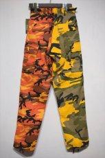 画像2: Two Tone Camo BDU Cargo Pants カーゴパンツ Yellow Orange (2)