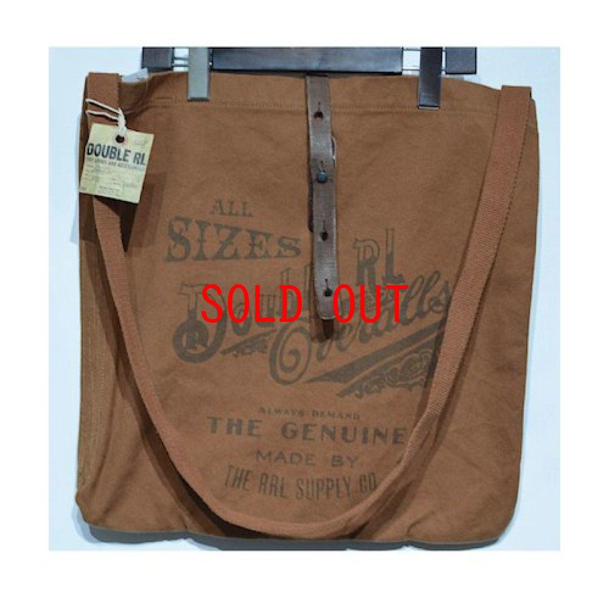 画像1: RRL(ダブルアール) Limited Edition Medium Canvas Shoulder Bag Brown Deadstock デッドストック ショルダーバッグ (1)