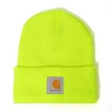 画像1: Acrylic Watch Hat Beanie Lime Yellow Yoda Green Pink Pop Orange ビーニー ニット帽 (1)