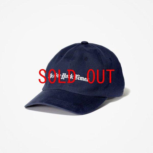 画像1: The NewYork Times(ニューヨーク タイムズ) Logo Ball Cap Navy ボール キャップ 帽子 (1)