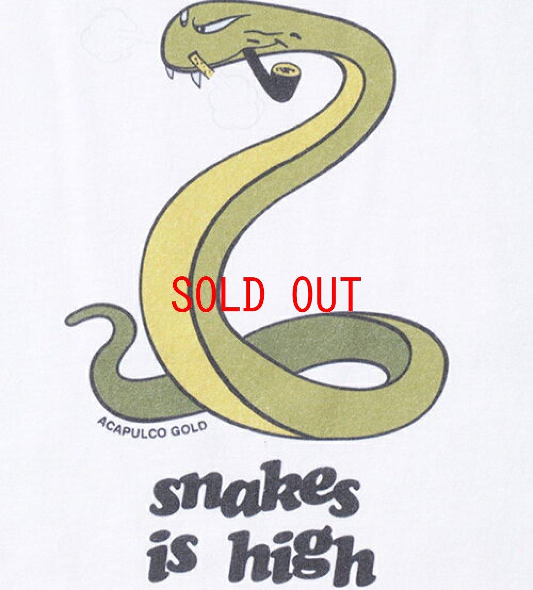 画像1: Acapulco Gold (アカプルコゴールド) Snakes is High S/S Tee White 半袖 Tシャツ (1)
