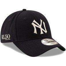 画像2: Polo Ralph Lauren(ポロ ラルフ ローレン) × New Era(ニューエラ) ×  New York Yankees(ニューヨークヤンキース) Navy 49FORTY Fitted Cap キャップ 帽子 collaboration コラボ (2)