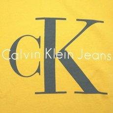 画像3: Calvin Klein Jeans(カルバンクライン ジーンズ) Classic Logo Pop Color Pullover Sweat Hoodie Yellow スウェット (3)