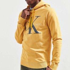画像5: Calvin Klein Jeans(カルバンクライン ジーンズ) Classic Logo Pop Color Pullover Sweat Hoodie Yellow スウェット (5)