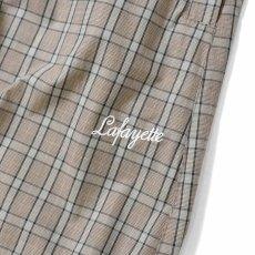 画像2: Lafayette(ラファイエット) Tartan Check Pajama Pants Grey チェック パンツ Easy Pants (2)