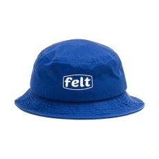 画像1: Felt(フェルト) Work Logo Bucket Blue White ロゴ バケット ハット (1)
