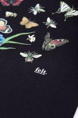 画像2: Felt(フェルト) Butterfly Bee S/S Tee Black Tシャツ (2)