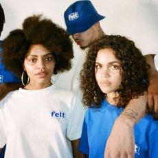 画像4: Felt(フェルト) Work Logo Bucket Blue White ロゴ バケット ハット (4)