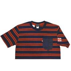 画像2: Acapulco Gold (アカプルコゴールド)AGNY Border Pocket S/S Tee Navy Red Black White Tシャツ ボーダー ポケット ポケT (2)