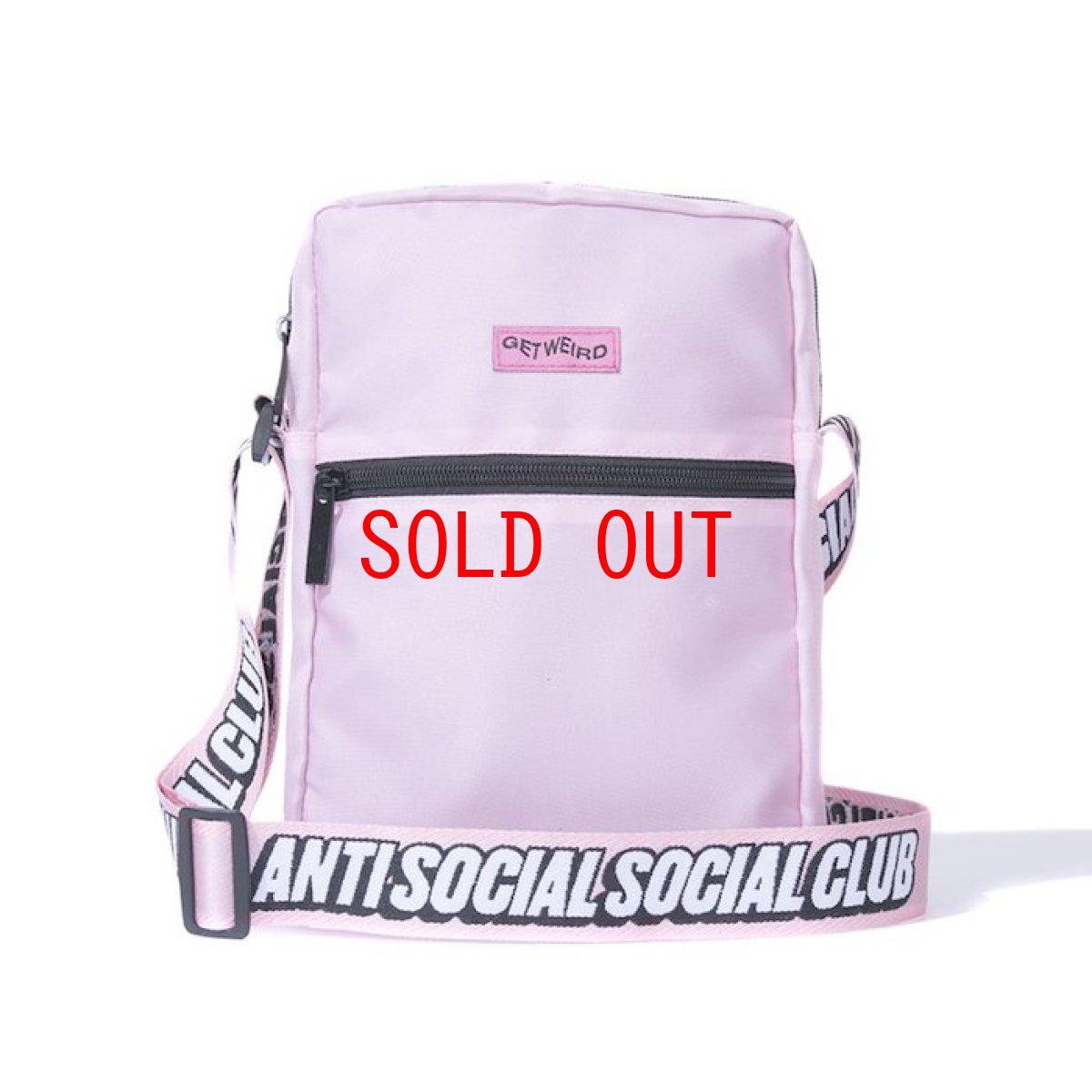 画像1: Anti Social Social Club(アンチ ソーシャル ソーシャル クラブ)Side Logo Mini Pouch Pink Logo ロゴ サイド ミニ ポーチ (1)