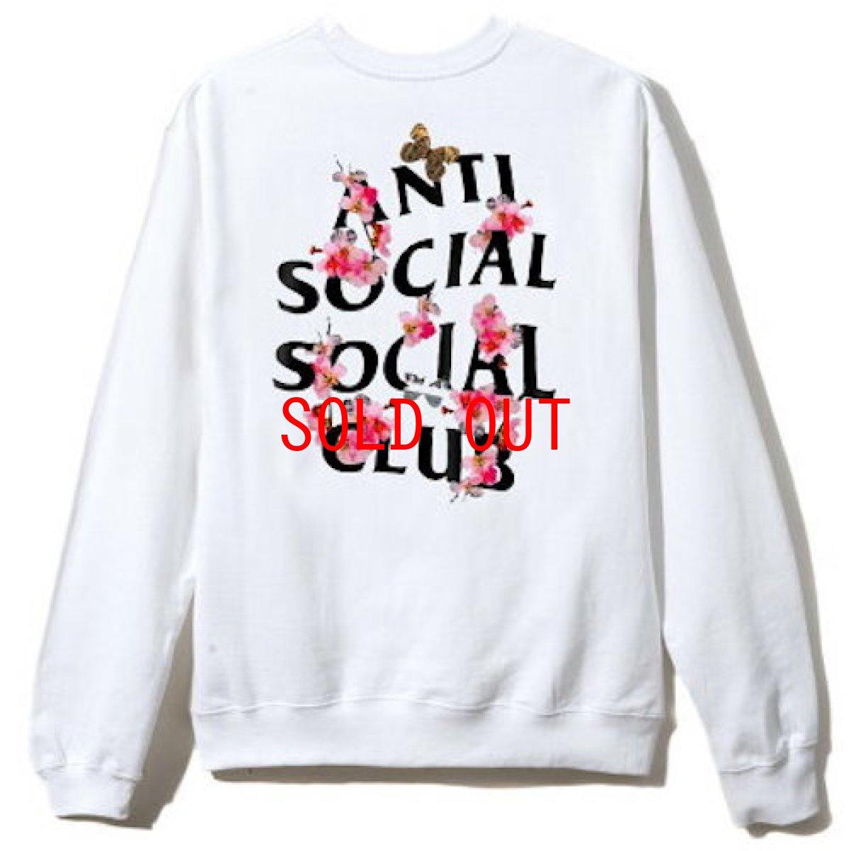 画像1: Anti Social Social Club(アンチ ソーシャル ソーシャル クラブ)KKOCH Crew Neck Sweat White Logo ロゴ クルーネック スウェット (1)