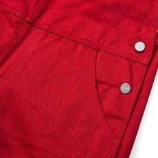 画像5: Bib Overall Straight Blast Red ウィメンズ レディース ビブ オーバーオール レッド (5)