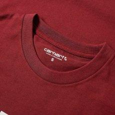 画像3: Carhartt WIP(カーハート ワークインプログレス) College Logo S/S Tee cranberry. カレッジ ロゴ 半袖 Tシャツ (3)