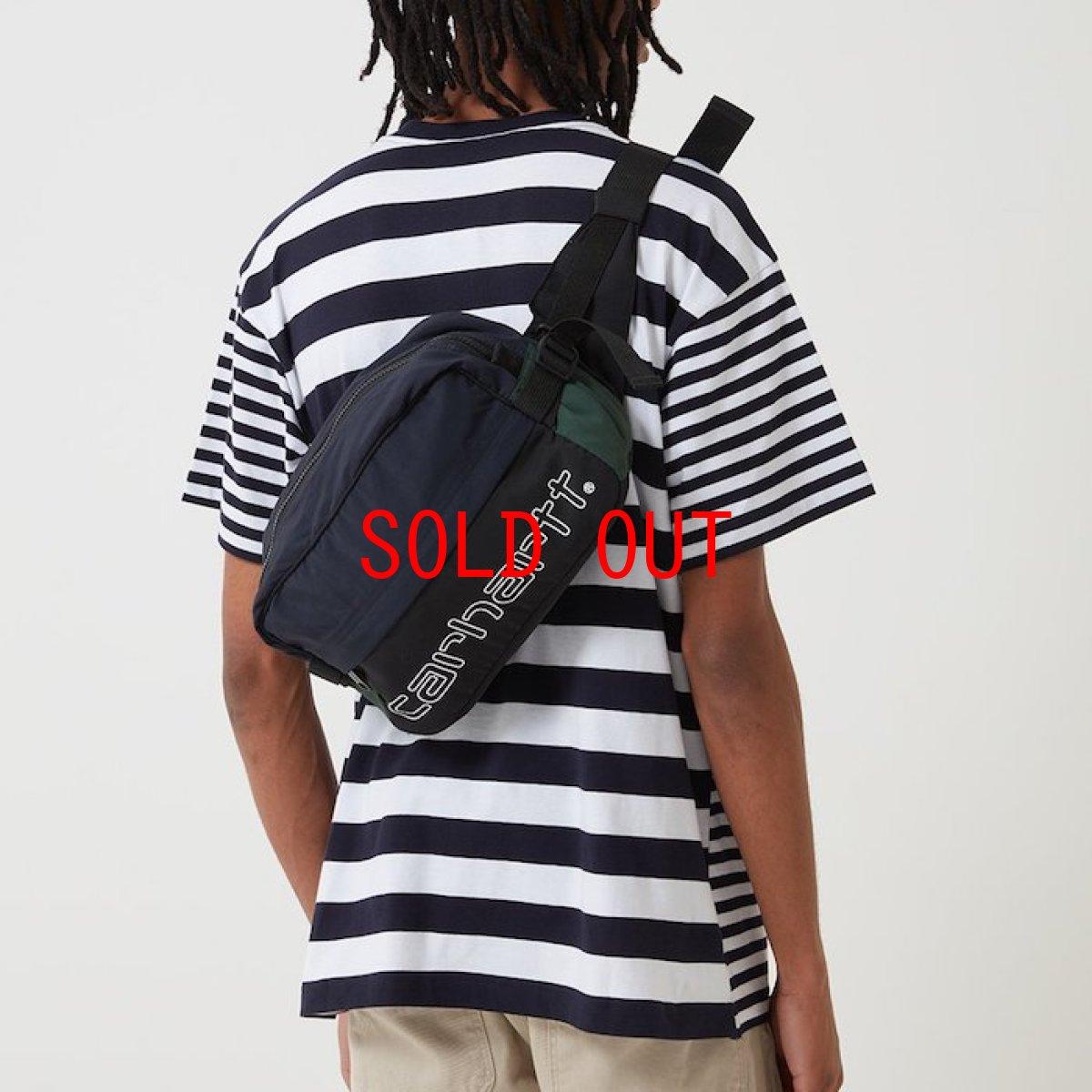 画像1: Carhartt WIP(カーハート ワークインプログレス) Terrce Hip Bag Green Dark Navy Black Bottle Bag Colorblock カラーブロック 切替 ウエスト ショルダー ヒップ バッグ (1)