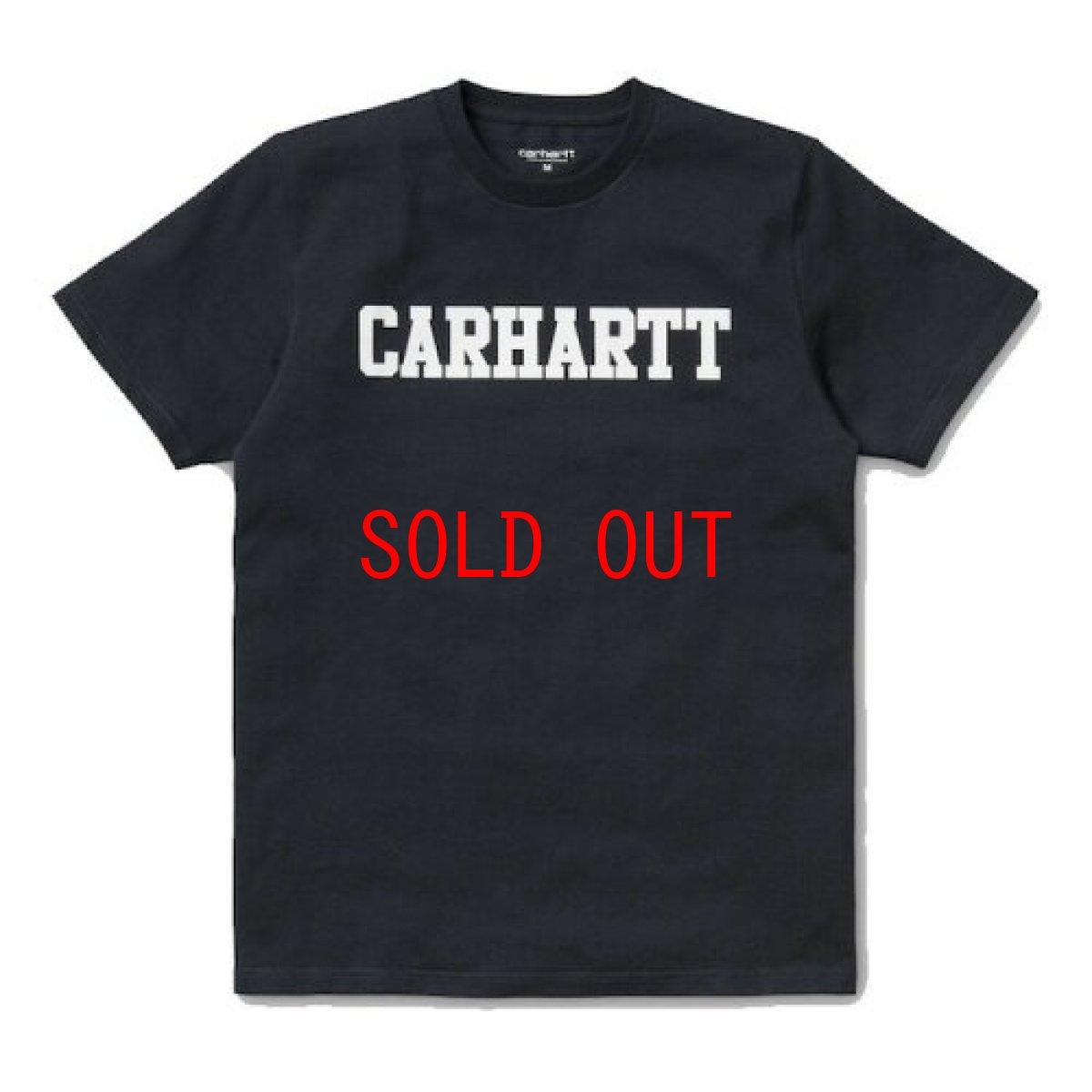 画像1: Carhartt WIP(カーハート ワークインプログレス) College Logo S/S Tee Black カレッジ ロゴ 半袖 Tシャツ (1)