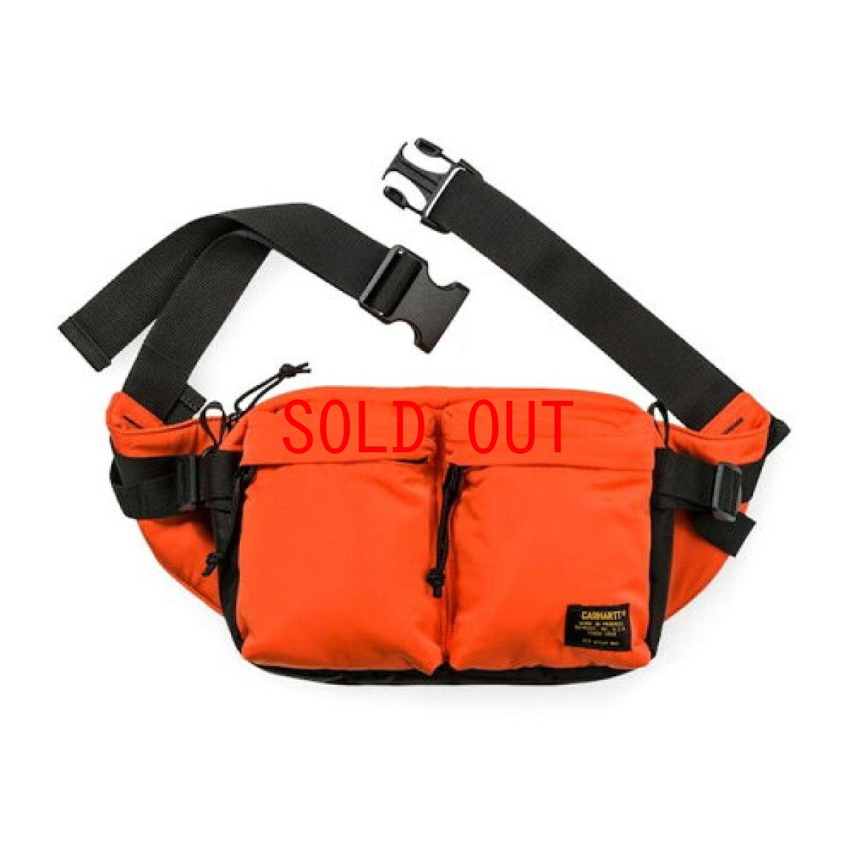 画像1: Carhartt WIP(カーハート ワークインプログレス) Military Hip Bag Camo Combat Orange Black ヒップ バッグ ウエスト (1)
