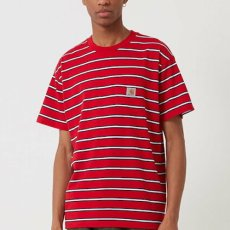 画像1: Carhartt WIP(カーハート ワークインプログレス) Houston Pocket S/S Tee T-Shirt Red  半袖 Tシャツ (1)