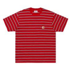 画像2: Carhartt WIP(カーハート ワークインプログレス) Houston Pocket S/S Tee T-Shirt Red  半袖 Tシャツ (2)