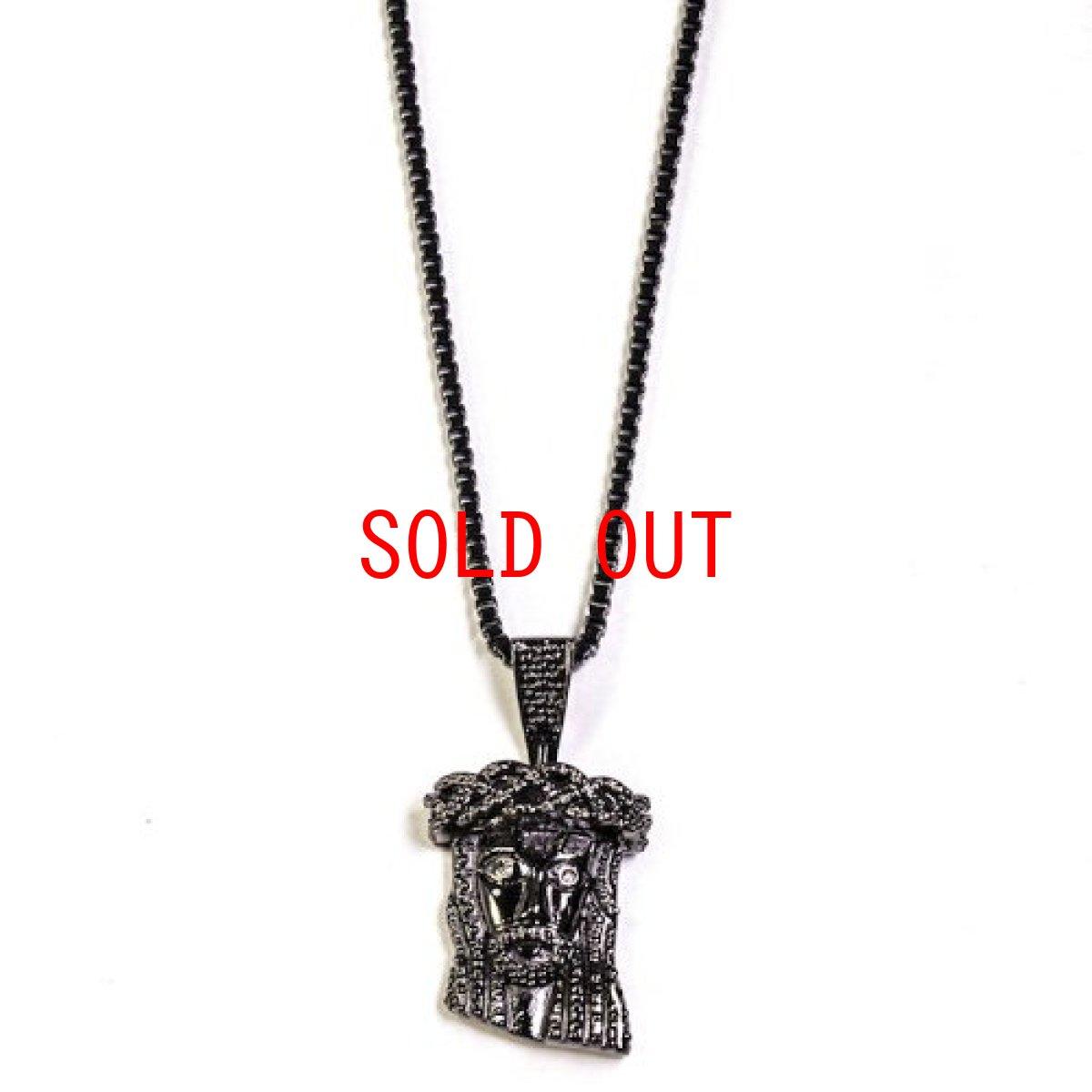 画像1: Golden Gilt(ゴールデン・ギルト) Mini Jesus Chain Gun Black Necklace ネックレス ブラック 64cm jewelry ジーザス チェーン (1)