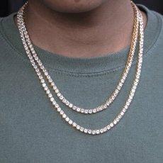 画像6: Golden Gilt(ゴールデン・ギルト) Tennis Chain Silver Necklace ネックレス シルバー 46cm 52cm 57cm テニス チェーン (6)