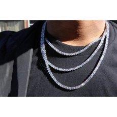 画像9: Golden Gilt(ゴールデン・ギルト) Tennis Chain Silver Necklace ネックレス シルバー 46cm 52cm 57cm テニス チェーン (9)