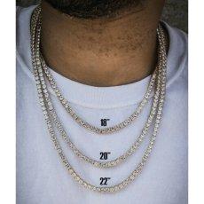 画像5: Golden Gilt(ゴールデン・ギルト) Tennis Chain Silver Necklace ネックレス シルバー 46cm 52cm 57cm テニス チェーン (5)