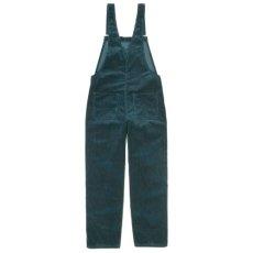 画像2: Bib Overall Straight Blue Coventry Corduroy, 8 Wales, 9.7 oz ウィメンズ (2)