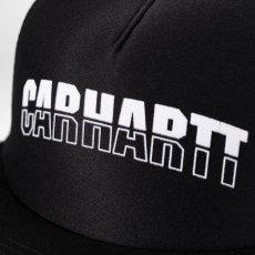 画像3: Carhartt WIP(カーハート ワークインプログレス) District Trucker Logo Cap Black Maroon Mesh Hat ロゴ メッシュ キャップ ハット 帽子 (3)
