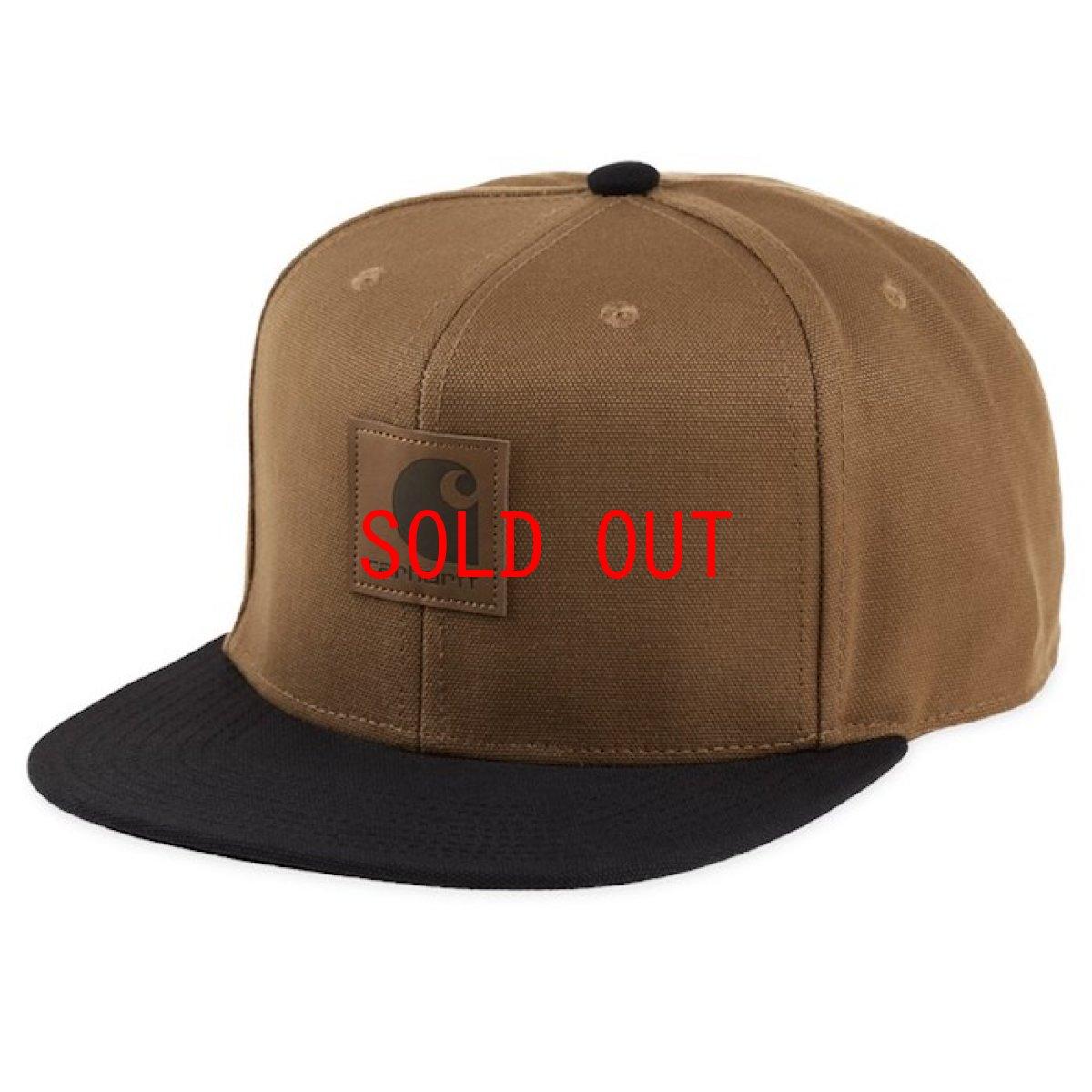 画像1: Logo Two Tone Snapback Cap Hamilton Brown/Black Black/Hamilton Brown ロゴ スナップバック キャップ 帽子 (1)
