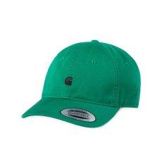 画像2: Carhartt WIP(カーハート ワークインプログレス) Madison Logo Cap Black Green White Beige ロゴ パネル キャップ 帽子 (2)