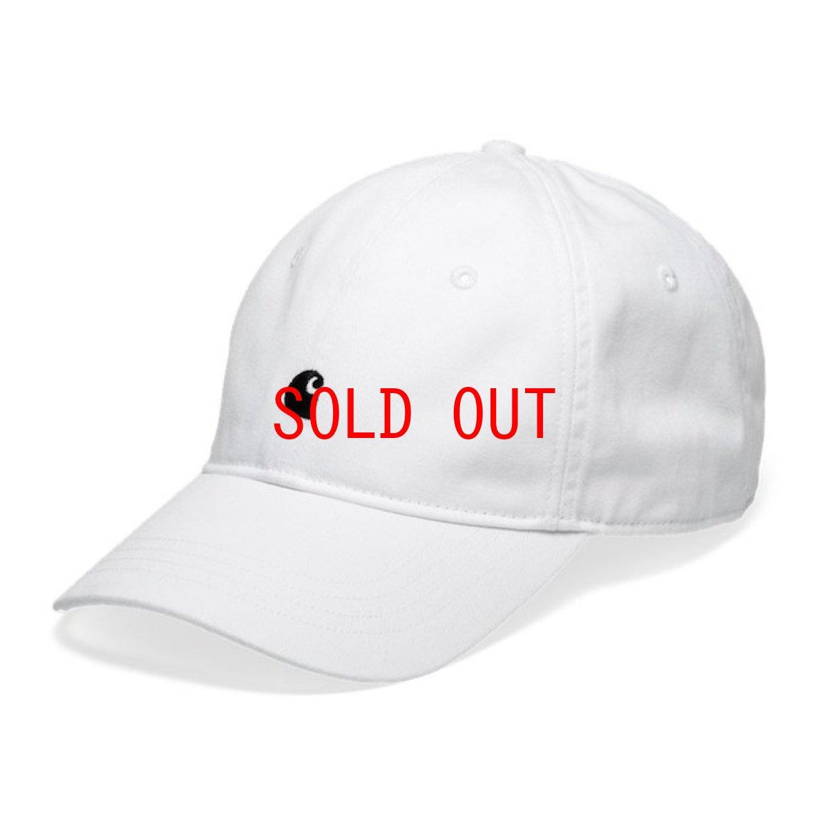 画像1: Carhartt WIP(カーハート ワークインプログレス) Madison Logo Cap White Green Black Beige ロゴ パネル キャップ 帽子 (1)