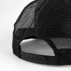 画像2: Carhartt WIP(カーハート ワークインプログレス) Trucker Logo Cap Black White Mesh Hat ロゴ メッシュ キャップ ハット 帽子 (2)