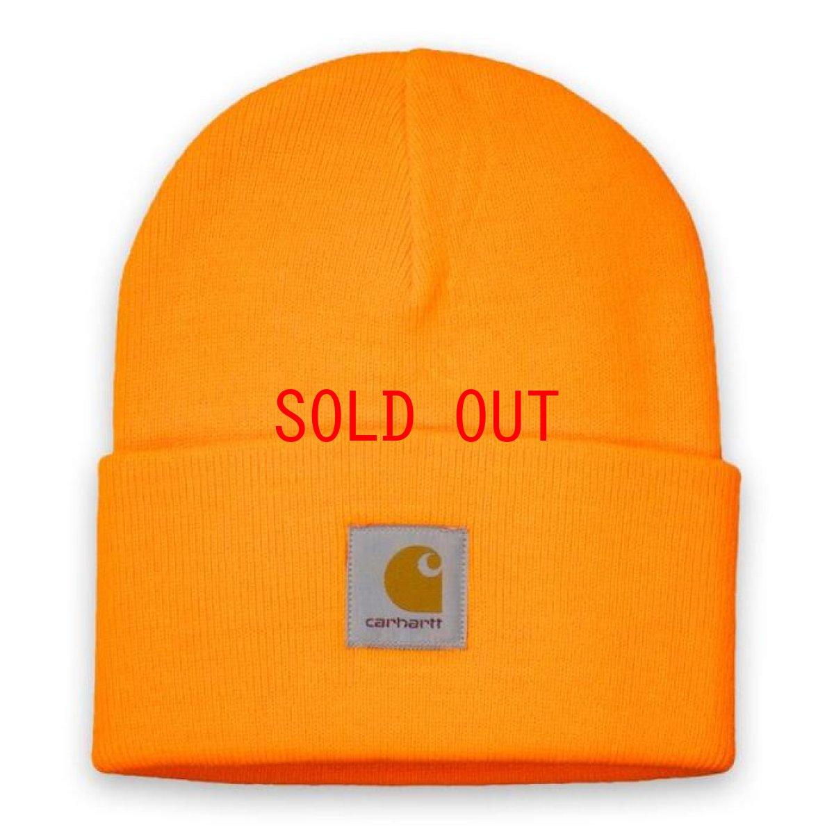 画像1: Carhartt WIP(カーハート ワークインプログレス) Acrylic Watch Hat Beanie Pop Orange Yoda Green Pink Lime Yellow ビーニー ニット帽 (1)