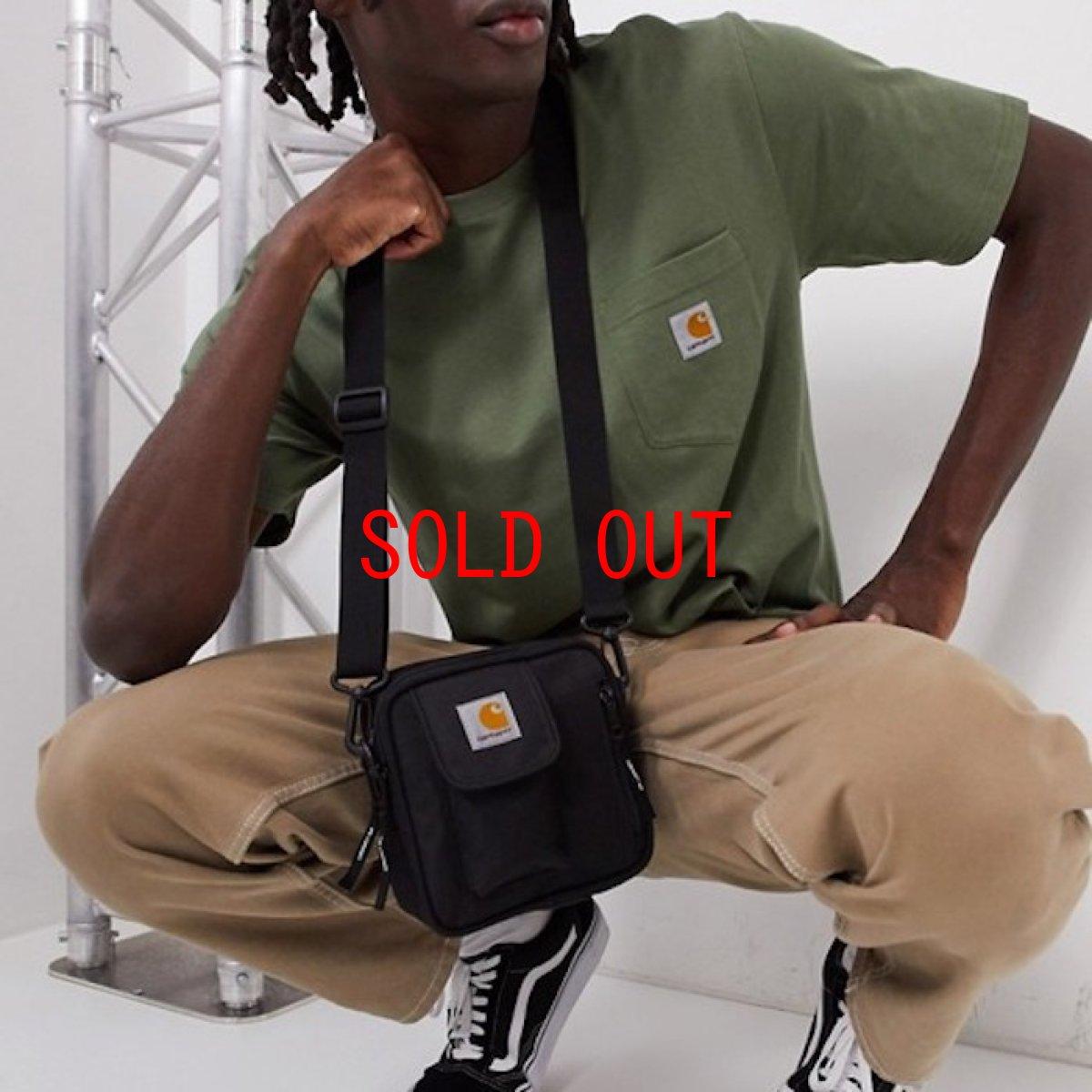 画像1: Carhartt WIP(カーハート ワークインプログレス) Essentials Bag Small Black ブラック Treehouse Green グリーン Bag in Bag バッグ イン バッグ ミニ スモール ポーチ カバン 鞄 (1)