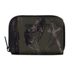 画像2: Carhartt WIP(カーハート ワークインプログレス) Midi Payton Zip Wallet Camo Cypress Green Black Duck ジップ コーデュラナイロン コンパクト Nylon 財布 ベロクロ (2)