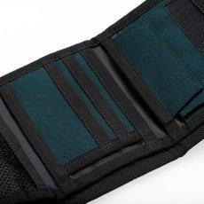 画像6: Carhartt WIP(カーハート ワークインプログレス) Payton Wallet Cypress Black Navy Olive Green Duck コーデュラナイロン コンパクト Nylon 財布 ベロクロ (6)