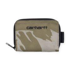 画像1: Carhartt WIP(カーハート ワークインプログレス) Midi Payton Zip Wallet Camo Cypress Green Black Duck ジップ コーデュラナイロン コンパクト Nylon 財布 ベロクロ (1)