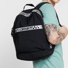 画像1: Carhartt WIP(カーハート ワークインプログレス) Senna Backpack Black Purple Lace 18.3liter 撥水加工 バックパック バッグ カバン 鞄 (1)