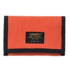 画像3: Carhartt WIP(カーハート ワークインプログレス) Ashtone Wallet Camo Black Woodland Olive Green Orange ブラック カモ 迷彩 折りたたみ 財布 コインポケット カードケース ミリタリーラベル ナイロン 財布 (3)
