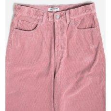 画像4: Carhartt WIP W(カーハート ワークインプログレス) Carhartt WIP W(カーハート ワークインプログレス) Newport Corduroy Pants rinsed Pink women's ウィメンズ レディース コーデュロイ ピンク パンツ (4)