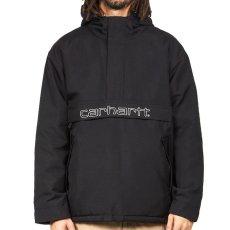 画像2: Carhartt WIP (カーハート ワークインプログレス) Visner Pullover Nylon Jacket Black プルオーバー ナイロン フリース ライナー ジャケット (2)