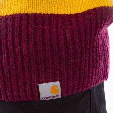 画像6: Carhartt WIP (カーハート ワークインプログレス) Alvin Sweater Stripe Knit Wear Border Maroon Wine Red Yellow ニット ボーダー セーター (6)