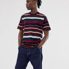 画像5: Flint S/S Multi Color Border Tee T-Shirt Wine Red ロゴ ボーダー 半袖 Tシャツ (5)