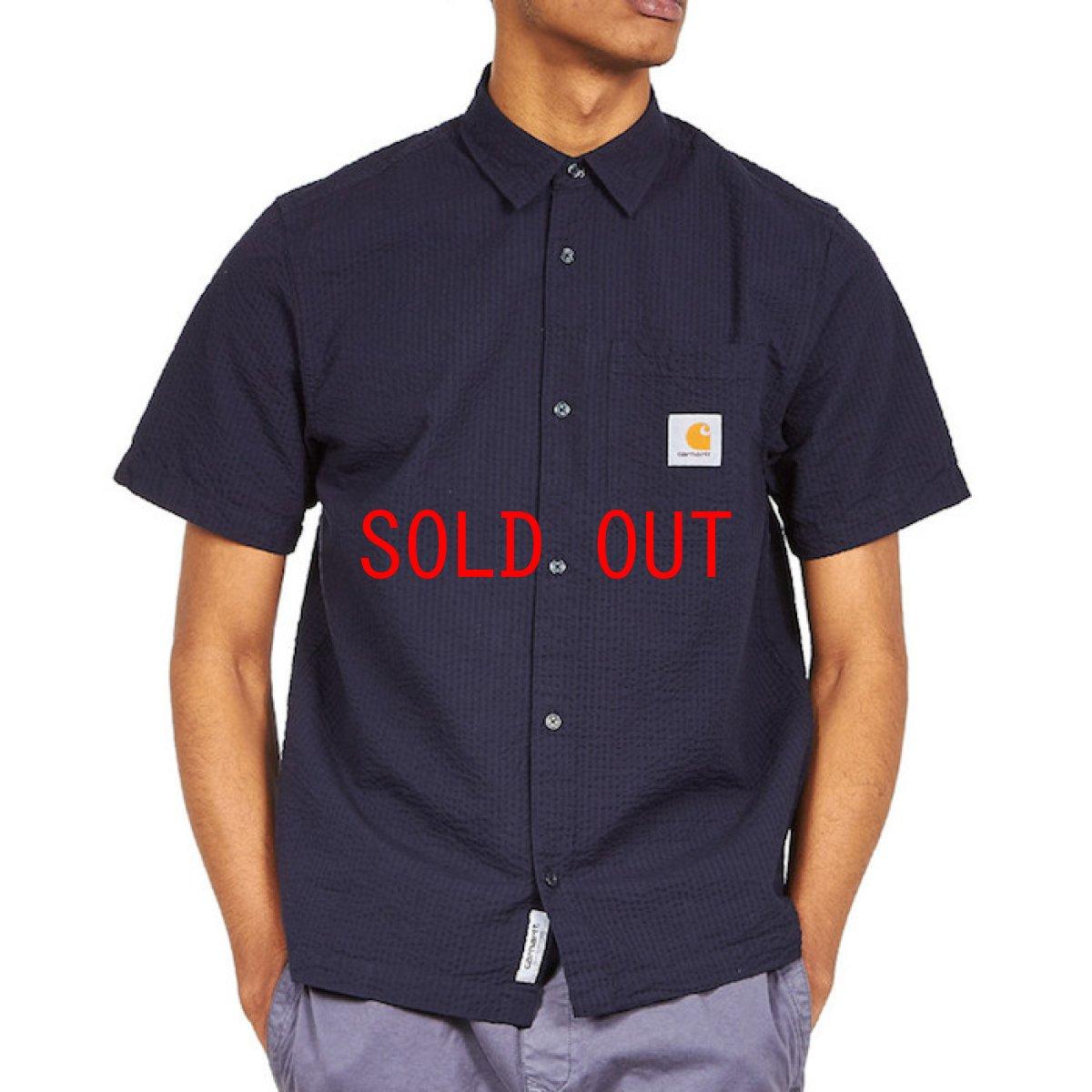 画像1: Southfield S/S Shirt Dark Navy シアサッカー 半袖 シャツ 4.1oz (1)