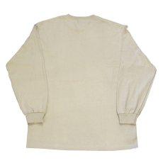 画像3: Gear L/S Tee Sand Beige Navy 長袖 Tシャツ  (3)